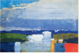 Noon Landscape Stretched Canvas Print by Nicolas De Sta&#235;l