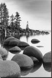 Shoreline, Lake Tahoe Stretched Canvas Print