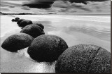 Beach Horizon, New Zealand Stretched Canvas Print