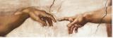 Skabelsen af Adam Lærredstryk på blindramme af Michelangelo Buonarroti