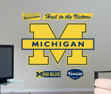 Michigan Wolverines Logo -Fathead Wall Decal