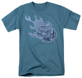 Retro - Flaming Engine T-Shirt