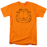 Garfield - Smirking Distressed T-shirts