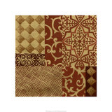 Henna Patterns on Gold I Premium Giclee Print by Nancy Slocum