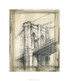 Pont de Brooklyn, New York Reproduction procédé giclée Premium par Ethan Harper