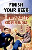 Drink je glas bier leeg Poster