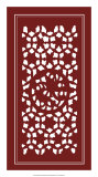 Shoji Screen in Cinnabar II Print