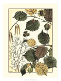 Arts and Crafts Hazelnut Prints by M.P. Verneuil