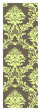 Vivid Damask in Green I Giclee Print