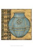 Square Cerulean Pottery I Poster par Chariklia Zarris