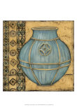 Square Cerulean Pottery I Poster by Chariklia Zarris