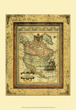Crackled Map of North America Prints by Deborah Bookman