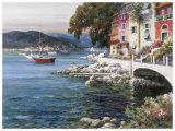 Seaside Terrace Art by F Lotte