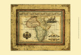 Crackled Mapa de África Pósters por Deborah Bookman