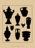 Urns in Silhouette I Posters