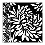 Graphic Chrysanthemums II Giclee Print by Nancy Slocum