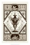 Sepia Pergolesi Urn I Giclee Print by Michel Pergolesi