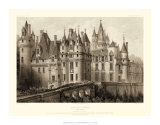 Petite Sepia Chateaux II Giclee Print by Victor Petit