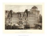 Petite Sepia Chateaux IV Giclee Print by Victor Petit