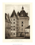 Petite Sepia Chateaux VI Giclee Print by Victor Petit