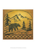 Lodge Bear Silhouette Prints by Chariklia Zarris