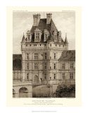 Petite Sepia Chateaux VIII Giclee Print by Victor Petit
