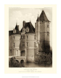 Petite Sepia Chateaux VII Giclee Print by Victor Petit