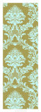 Vivid Damask in Gold I Giclee Print
