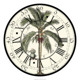 Antique Palm Clock Giclee Print