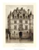 Petite Sepia Chateaux V Giclee Print by Victor Petit
