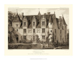 Petite Sepia Chateaux III Giclee Print by Victor Petit