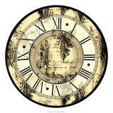 Aged Elegance Clock Print