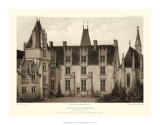 Petite Sepia Chateaux I Giclee Print by Victor Petit
