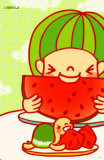 Sweet Watermelon Masterprint by  Minoji