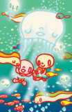 Sea Stroll Masterprint by  Minoji
