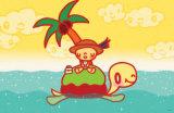 Turtle Island Masterprint by  Minoji