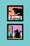 Naughty Kitty in Fish Bowl Masterprint by Ryo Takagi
