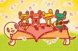 Frog Band Masterprint by  Minoji