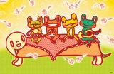 Frog Band Masterprint by  Minoji