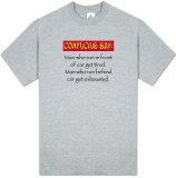 "Attitude - Confucius Say ""..Man-Run"" T-shirts"