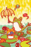 Frog Dance Masterprint by  Minoji