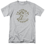 Retro - I'd Rather be Skating T-shirts