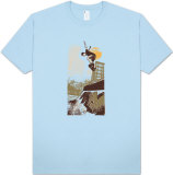 Retro - Skater on Half Pipe T-shirts
