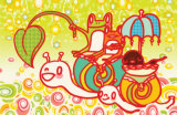 Snail Ride Masterprint by  Minoji