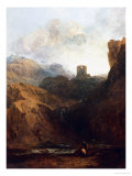 Dolbadern Castle, North Wales Stampa giclée di William Turner