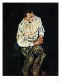 Portrait Karl Gruenwald Giclee Print by Egon Schiele
