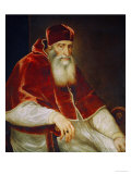 Pope Paul III Farnese (1468-1549) Giclee Print by  Titian (Tiziano Vecelli)