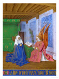 Les Heures D'Etienne Chavalier: Annunciation of the Virgin Mary's Approaching Death Giclee Print by Jean Fouquet