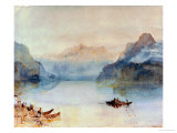 Lake Lucerne: The Bay of Uri, from Brunnen, Circa 1841-2 Giclee Print by William Turner