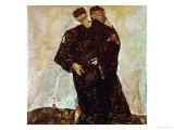 """""""Eremiten"""" (Hermits) Egon Schiele and Gustav Klimt Giclee Print by Egon Schiele"""